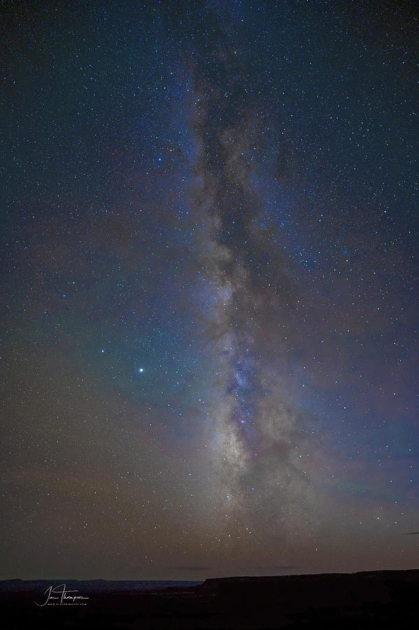 Dead Horse Point Photograph - Milky Way at Dead Horse Point by Jim Thompson