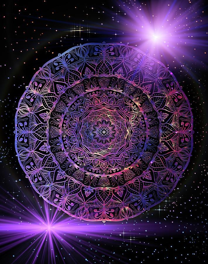 Milky Way Mandala Digital Art
