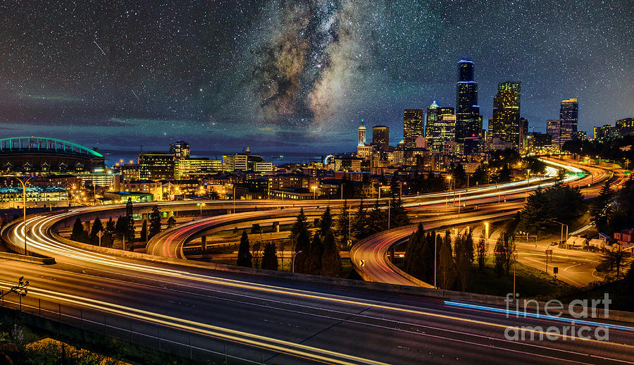 Milky Way Night in Seattle by Sal Ahmed