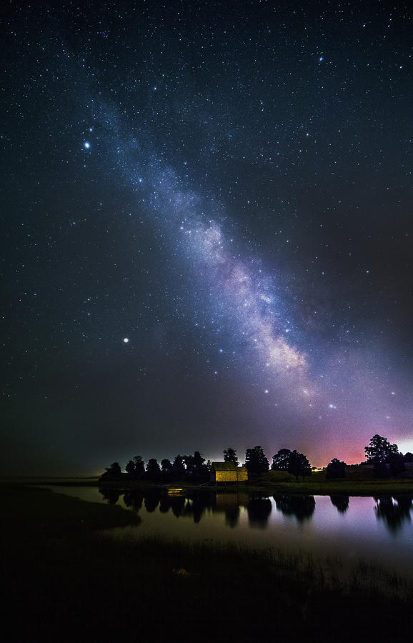 Milky Way Over Cape Cod Salt Pond Bay Photograph