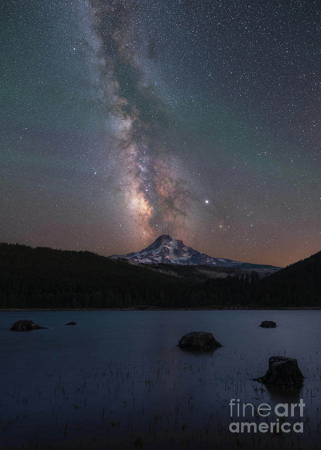 Oregon Photograph - Milky Way Over Mount Hood by Michael Ver Sprill