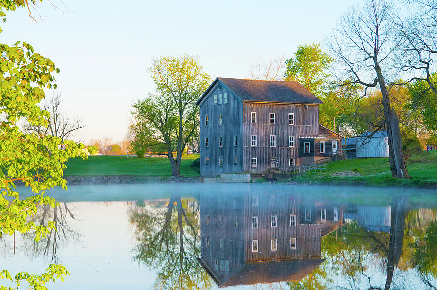 Mill Stockdale Mill On The Eel River Built 1854 Wabash County I Photograph By William Reagan