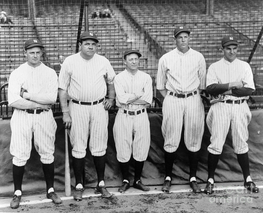 Miller Huggins and Babe Ruth Photograph by National Baseball Hall Of Fame Library