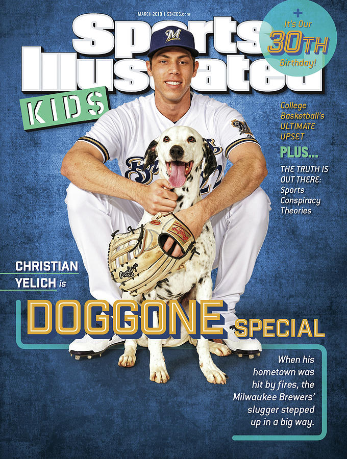 Milwaukee Brewers Christian Yelich, Sports Illustrated for Kids Cover Photograph by Sports Illustrated