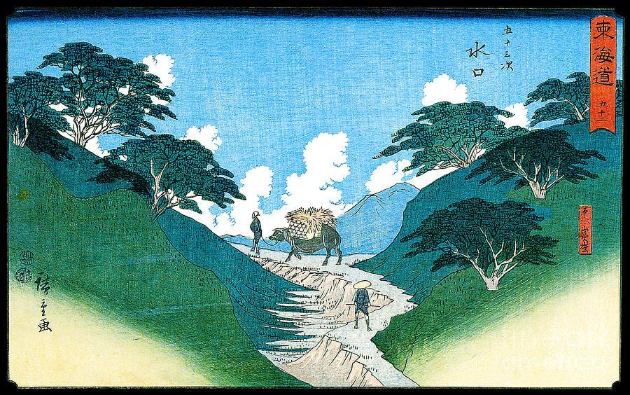 Minakuchi The Beautiful Pines At Hiramatsuyama 1851 Painting