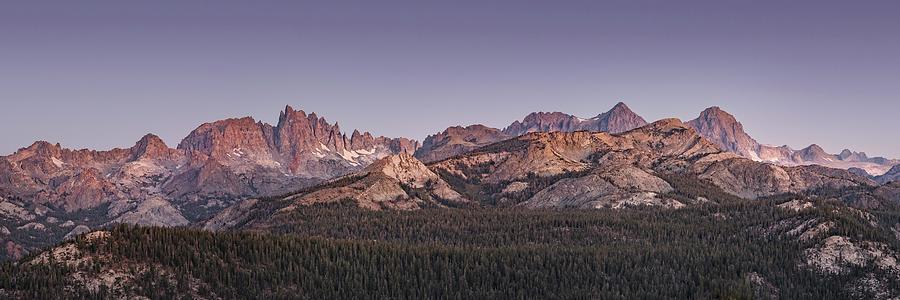 Mountains Photograph - Minarets and Ritter Range Twilight by Alexander Kunz