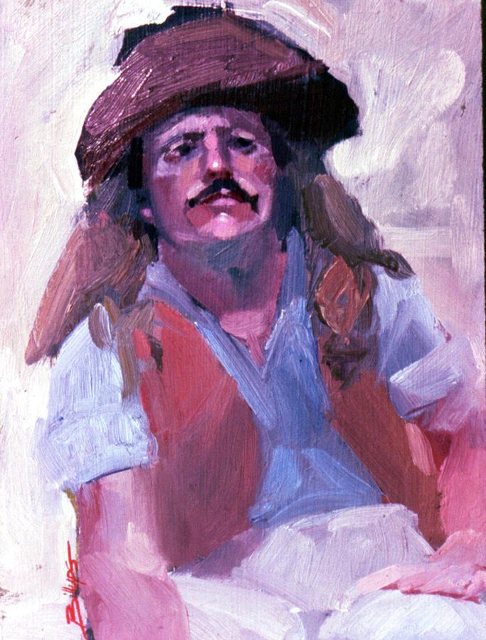 Mountain Men Painting - Miner by Betty Jean Billups