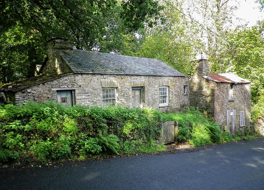 Miners Cottages Luckett Cornwall Photograph