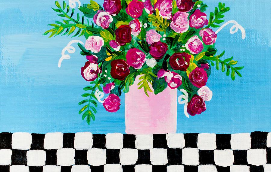 Flowers Painting - Mini Check 1 by Beth Ann Scott