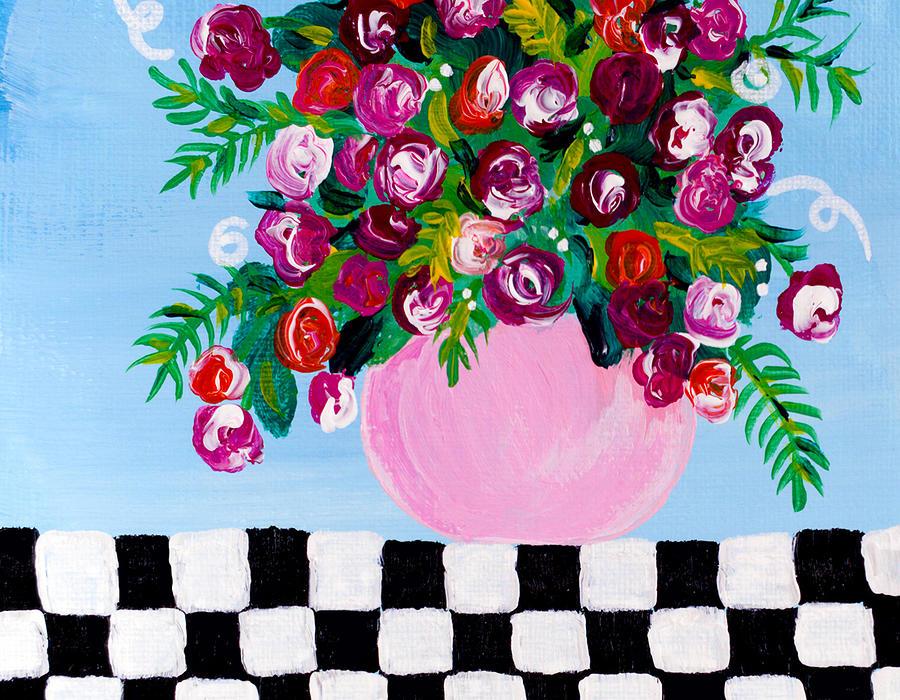 Mini Check 2 Painting by Beth Ann Scott