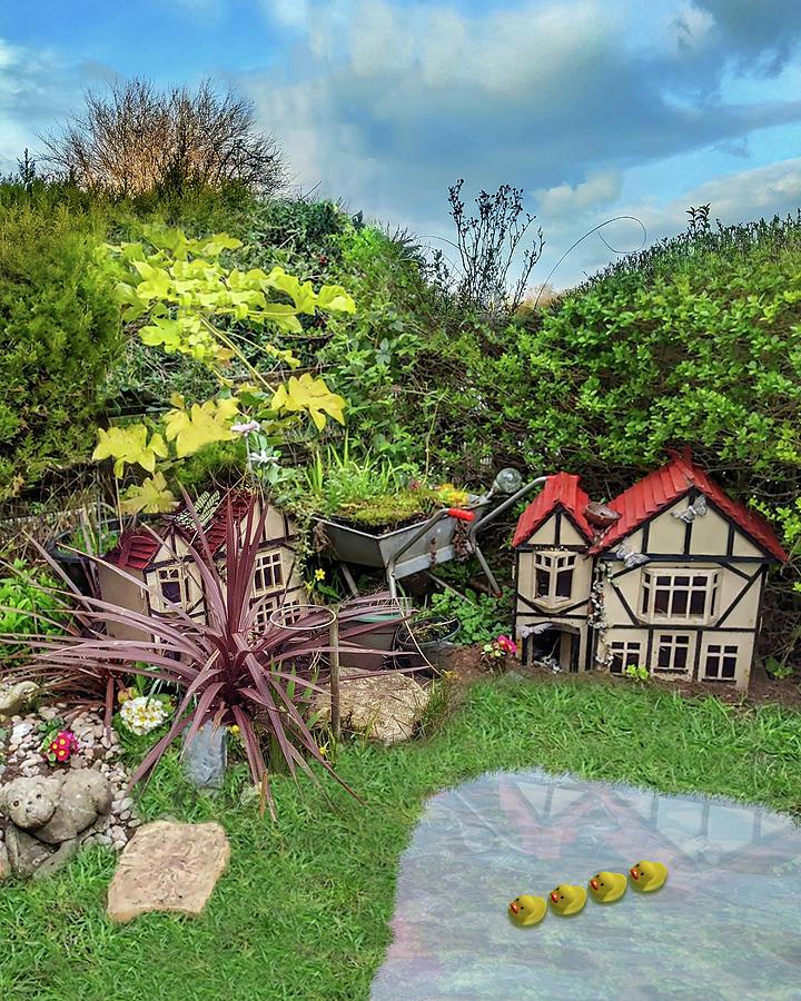 Mini Digital Art - Mini Village Garden by Carlos Vieira