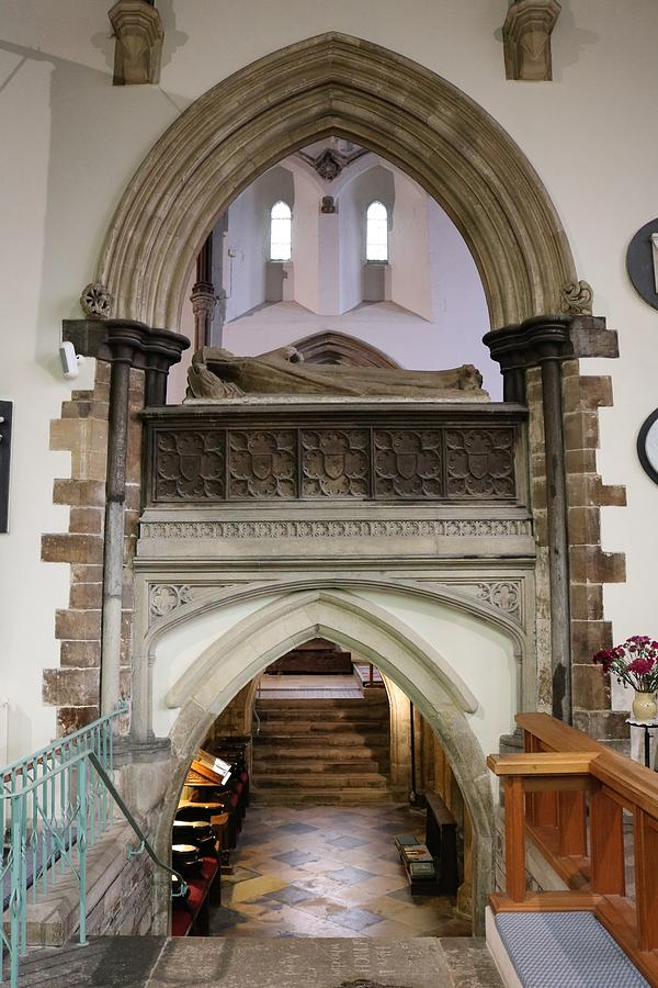 Wimborne Minster Photograph - Minster Arches by Michaela Perryman