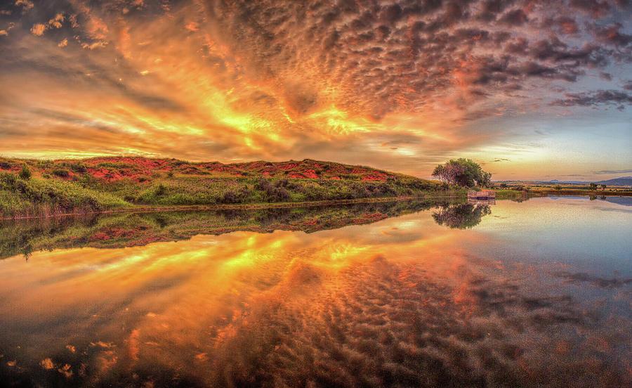 Mirror Lake Sunrise Reflection by Fiskr Larsen