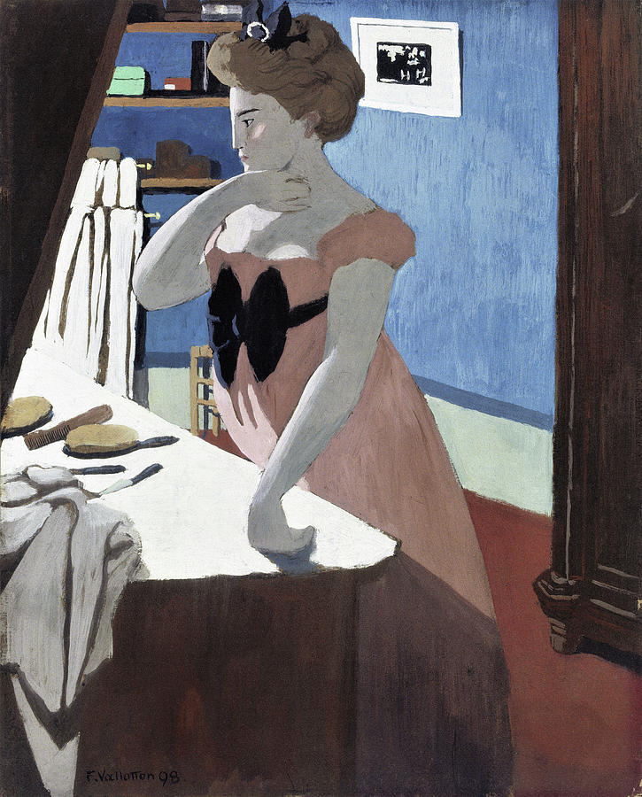 Swiss Painting - Misia At Her Dressing Table - Digital Remastered Edition by Felix Edouard Vallotton