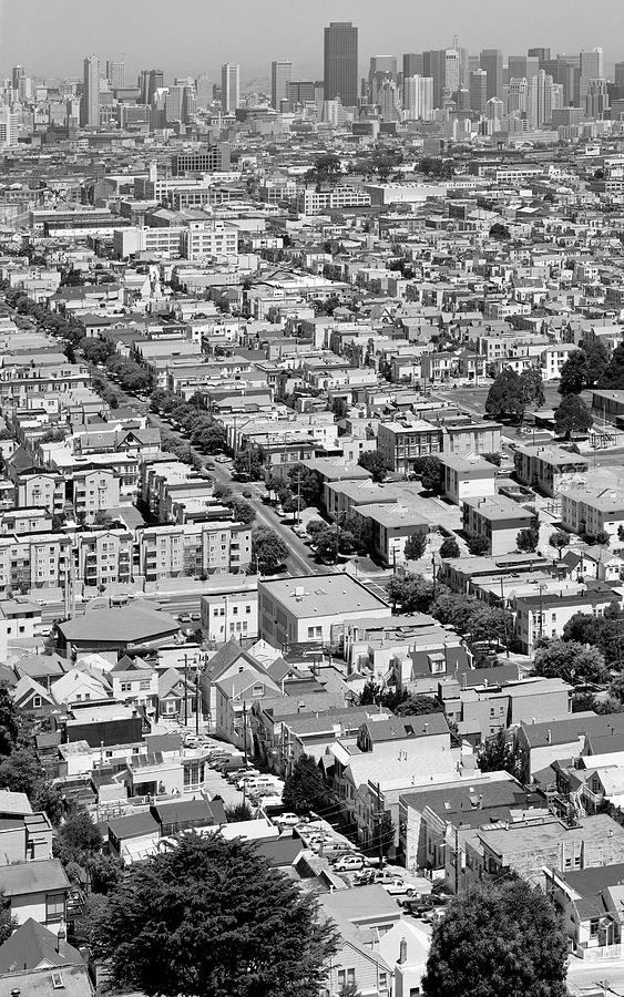 Mission District Summer Afternoon From Bernal Heights, San Francisco, 1989, Diptych 1 Photograph