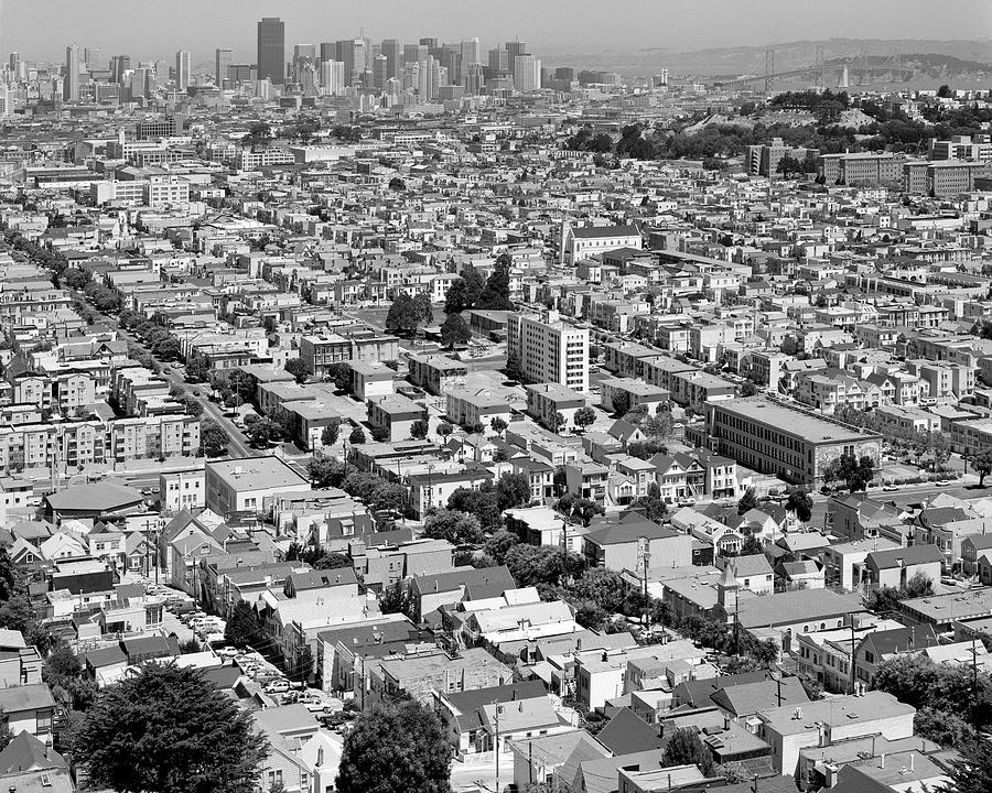 Mission District Summer Afternoon From Bernal Heights, San Francisco, California 1989 Photograph