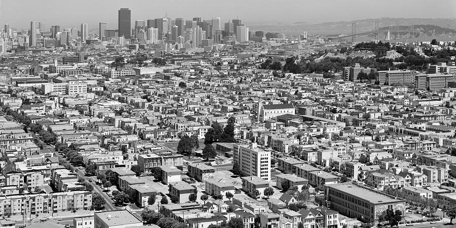 Mission District Summer Afternoon Panorama From Bernal Heights, San Francisco, 1989 Photograph