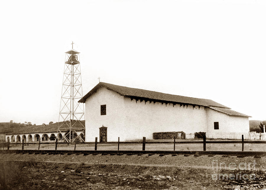 Mission San Miguel Arcangel 1903 by California Views Archives Mr Pat Hathaway Archives