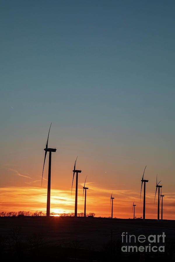 Missouri Wind Turbines Photograph