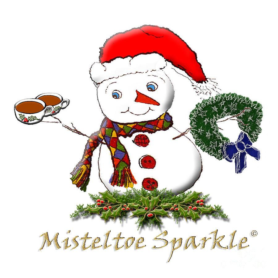 Misteltoe Sparkle Mixed Media