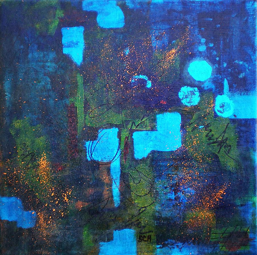 Abstract Painting - Misty Blue by Scott Haley