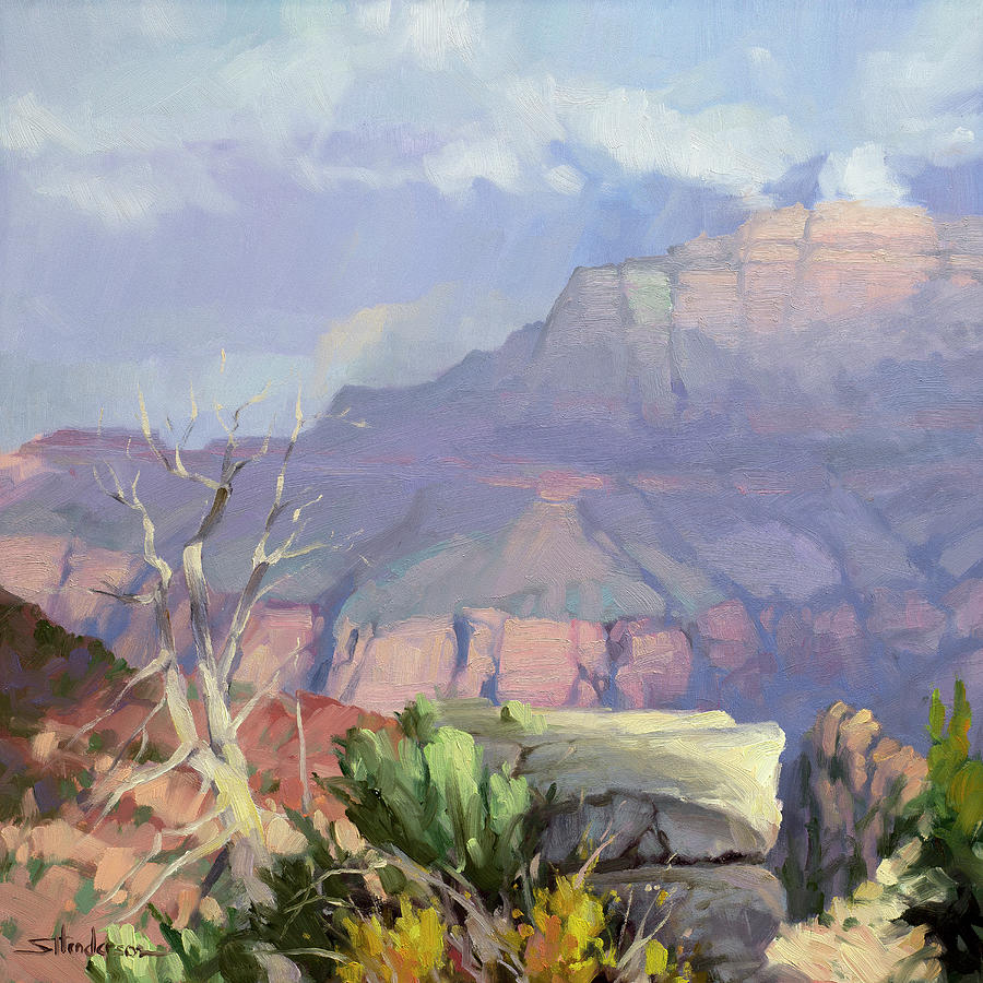 Misty Canyon Painting