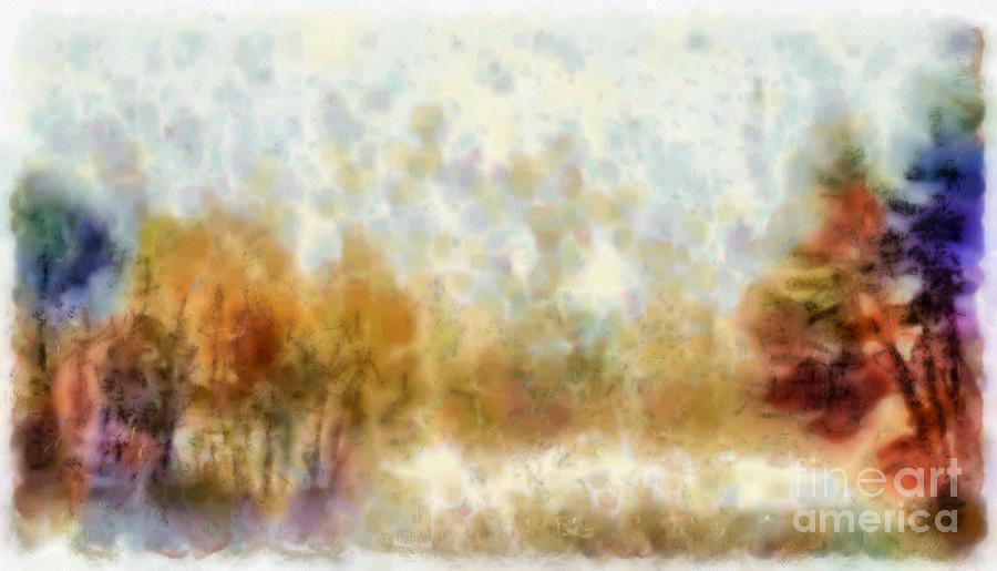 Misty Forest Digital Art