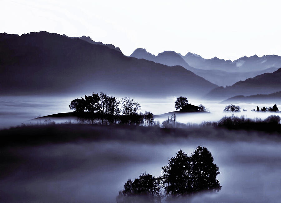 Misty Morn in Switzerland by Susan Maxwell Schmidt