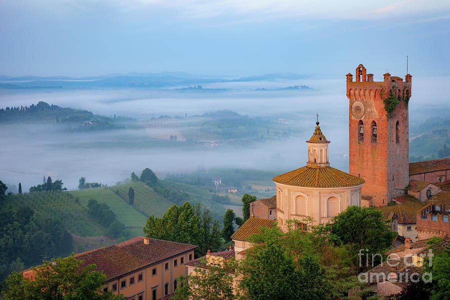 Misty Morning - San Miniato - Tuscany Italy Photograph