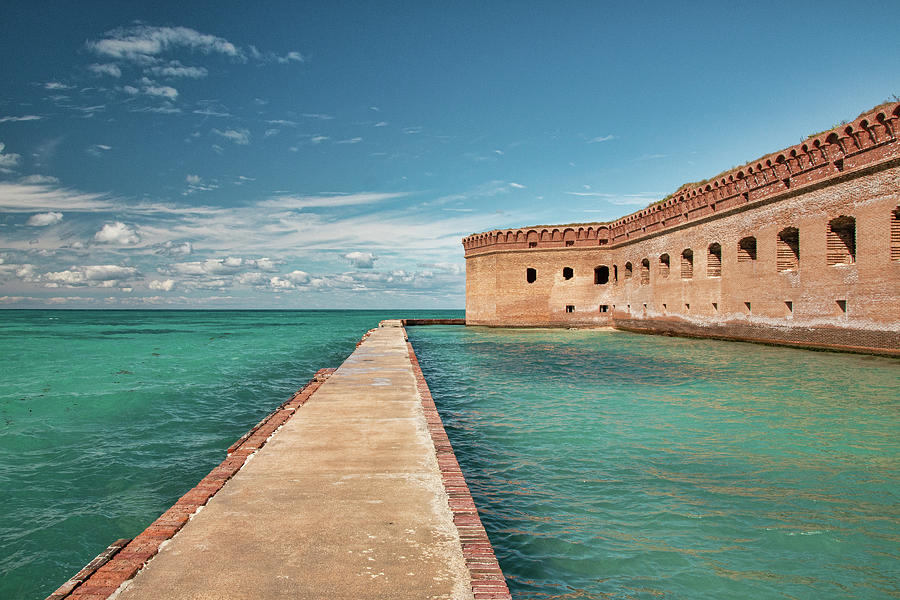 Moat Walkway At Fort Jefferson by Kristia Adams