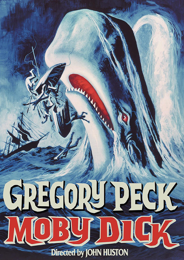moby Dick Movie Poster 1956 Gregory Peck Mixed Media