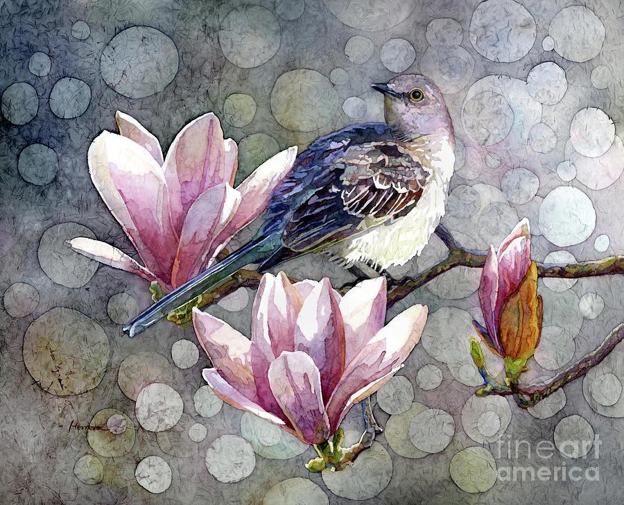 Mockingbird And Magnolia Painting