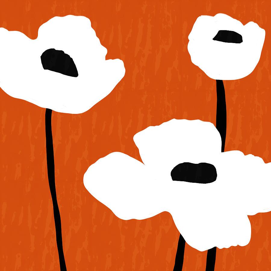 Orange Photograph - Mod Poppies Orange- Art by Linda Woods by Linda Woods