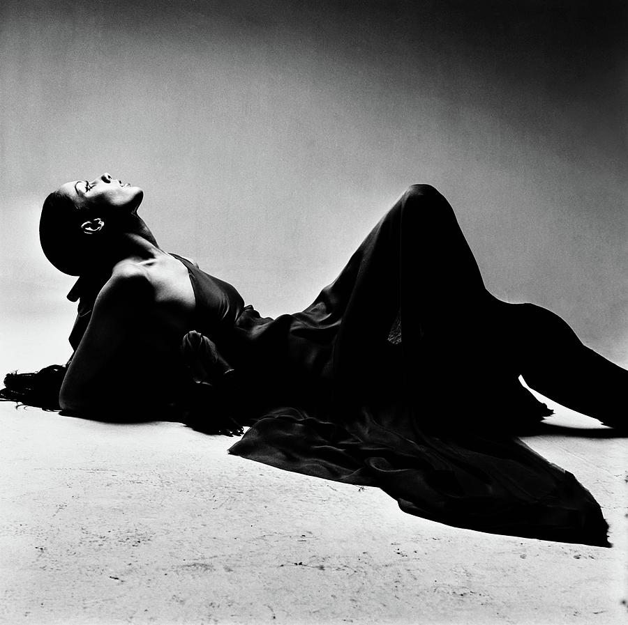 Model Moyra Swan Reclining Photograph by Bert Stern