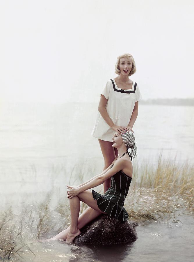 Models in Cole of California Beachwear Photograph by Richard Rutledge