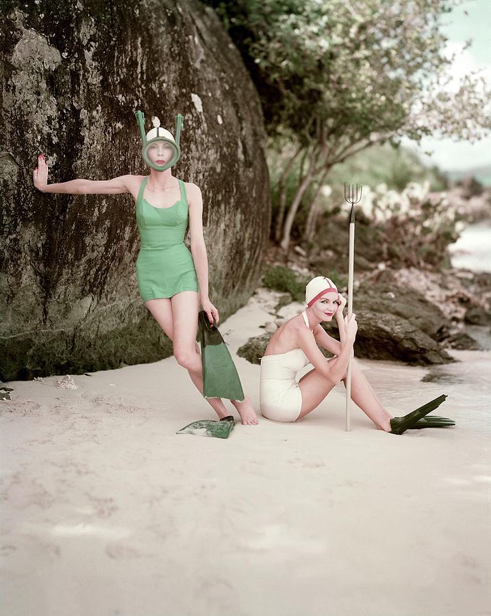 Models in Rose Marie Reid Swimwear Photograph by Richard Rutledge