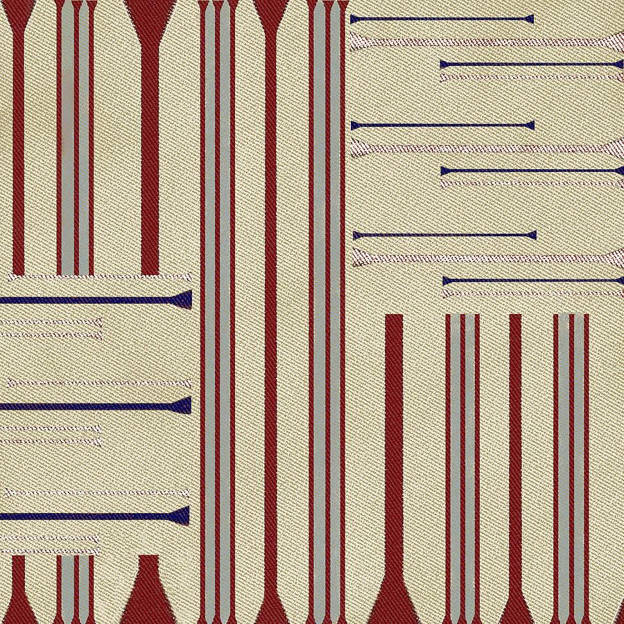 Modern African Ticking Stripe Digital Art