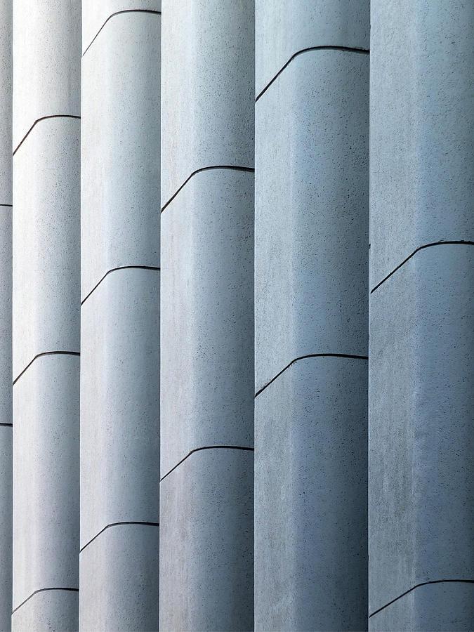brutalist blue - worsley building leeds by Philip Openshaw