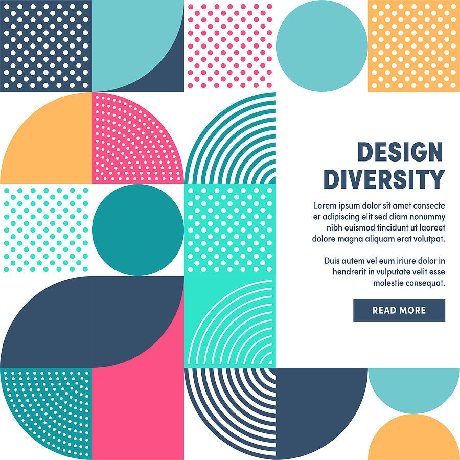 Modern Design Diversity Promo Banner Vector Design Drawing by Ilyast