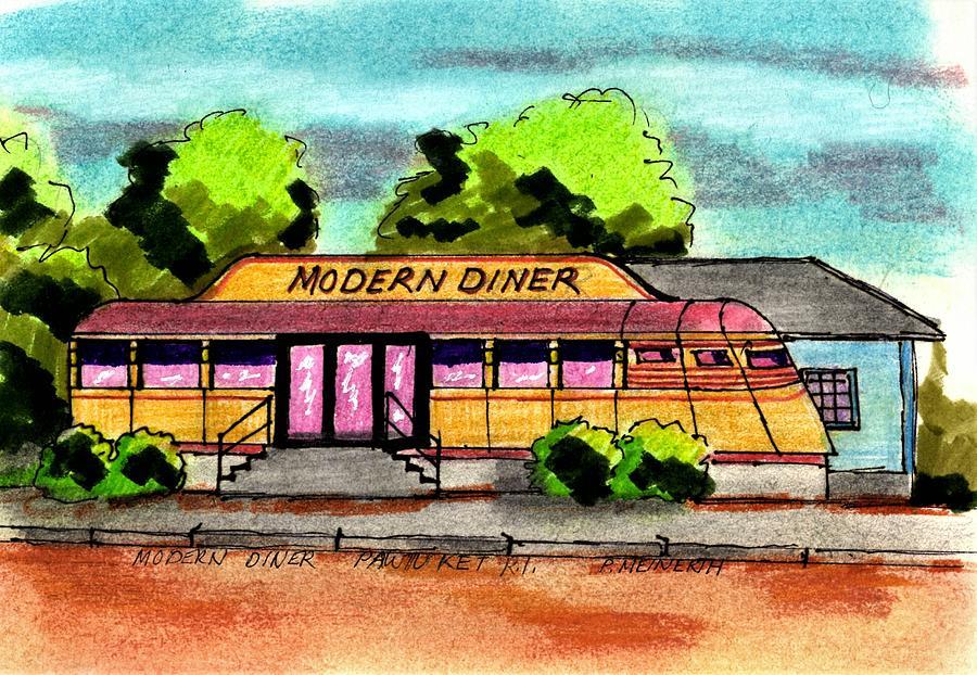 Modern Diner Drawing
