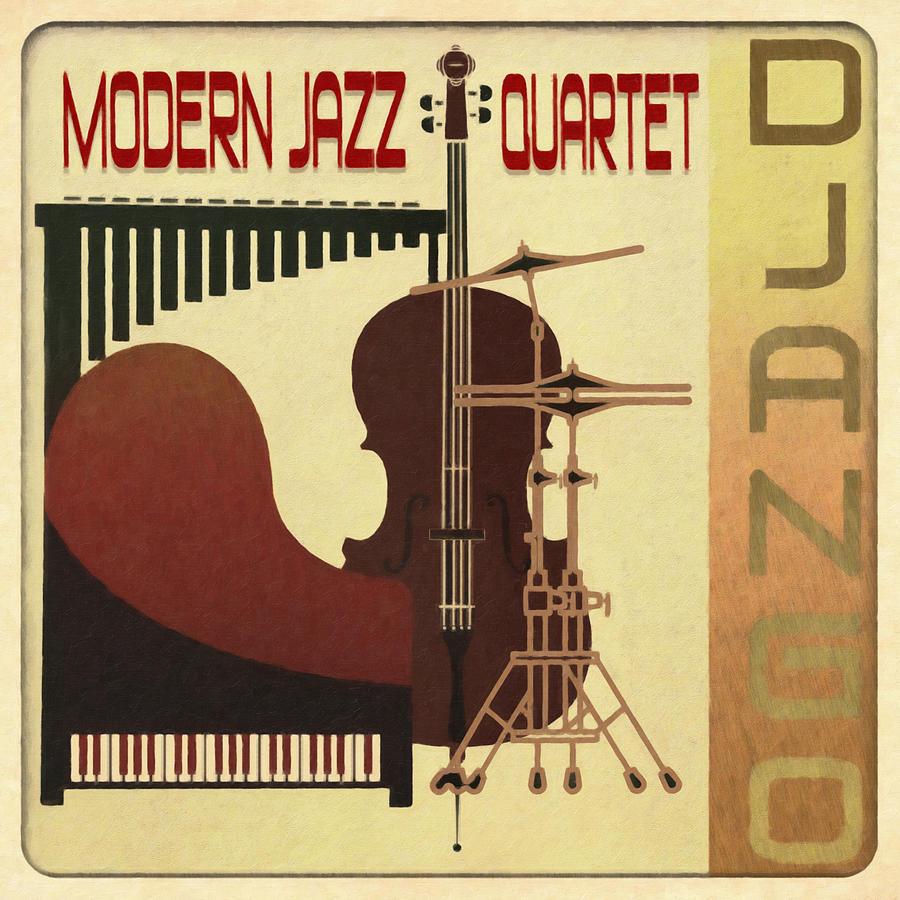 Modern Jazz Quartet Digital Art - Modern Jazz Quartet - Django by Regina Wyatt