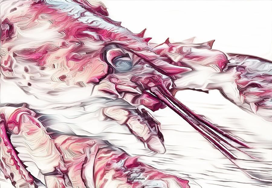 Modern Lobster Pink Digital Art
