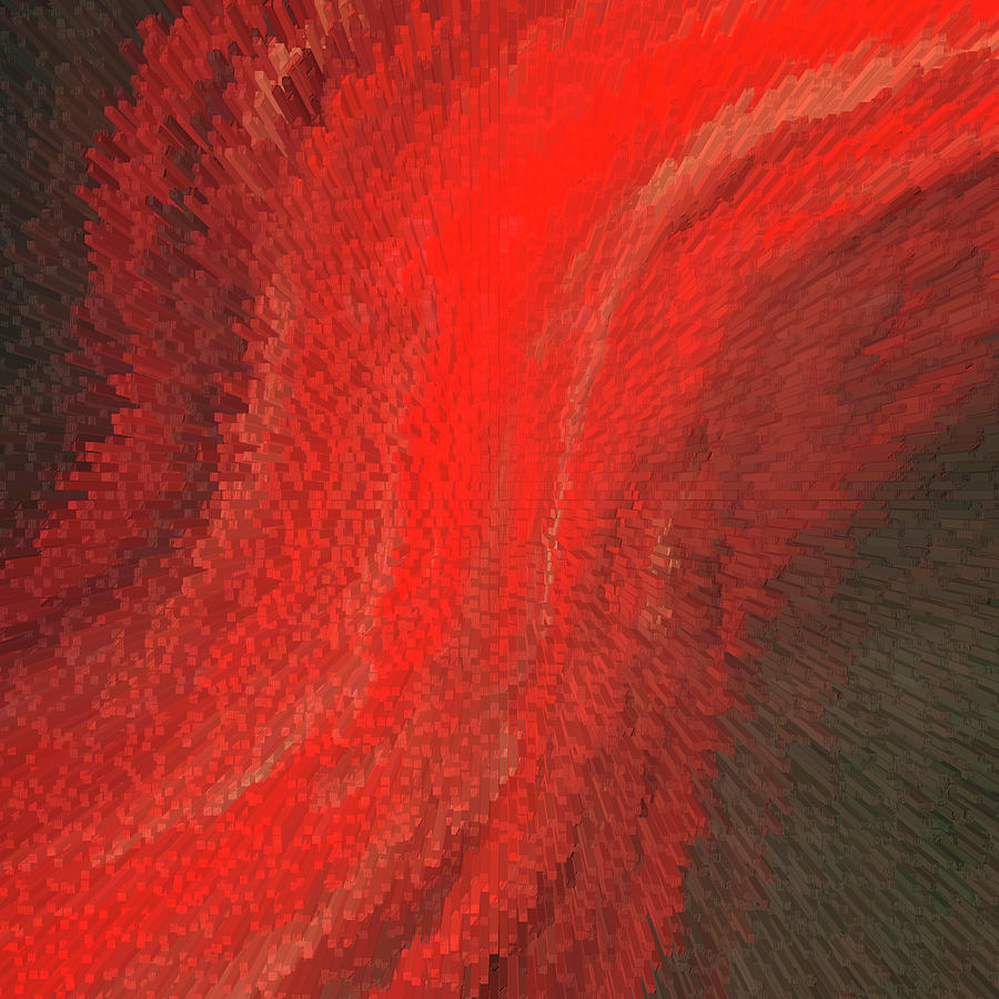 Red Painting - Modern Ruby - Red Abstract Art - Sharon Cummings by Sharon Cummings