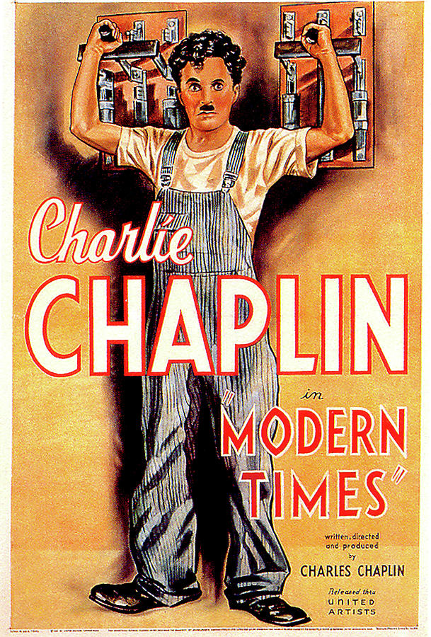 modern Times Movie Poster 1936 Mixed Media