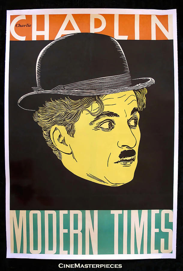 modern Times, With Charlie Chaplin, 1936 Mixed Media