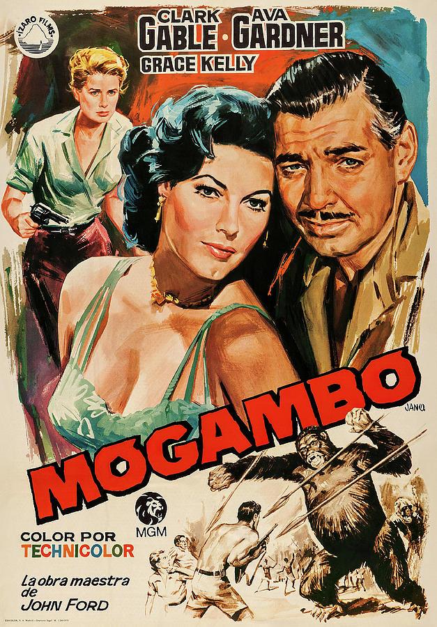 mogambo, With Clark Gable And Ava Gardner, 1953 Mixed Media