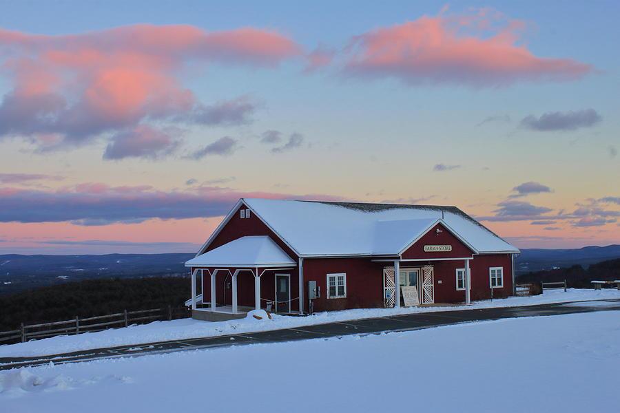 Mohawk Trail Apex Farm Store In Winter Photograph