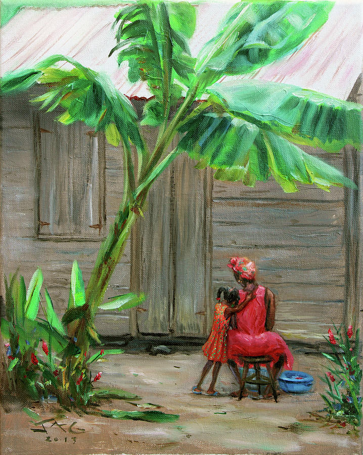 Caribbean Painting - Mommy by Jonathan Guy-Gladding JAG