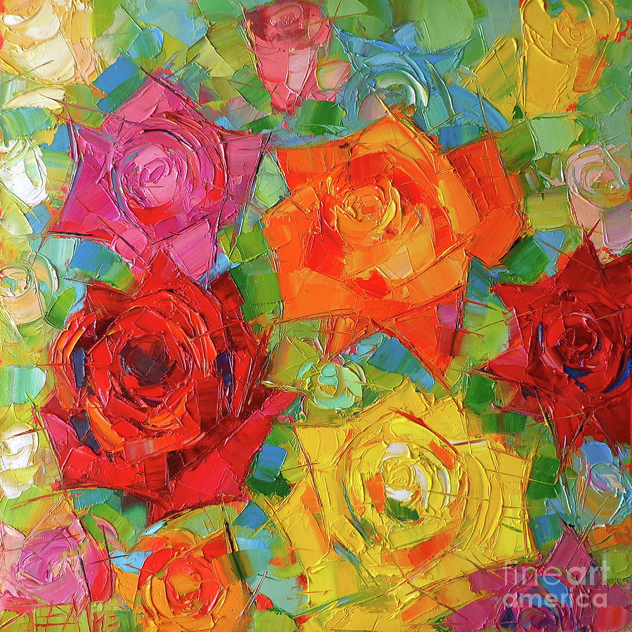 Rose Painting - Mon Amour La Rose by Mona Edulesco