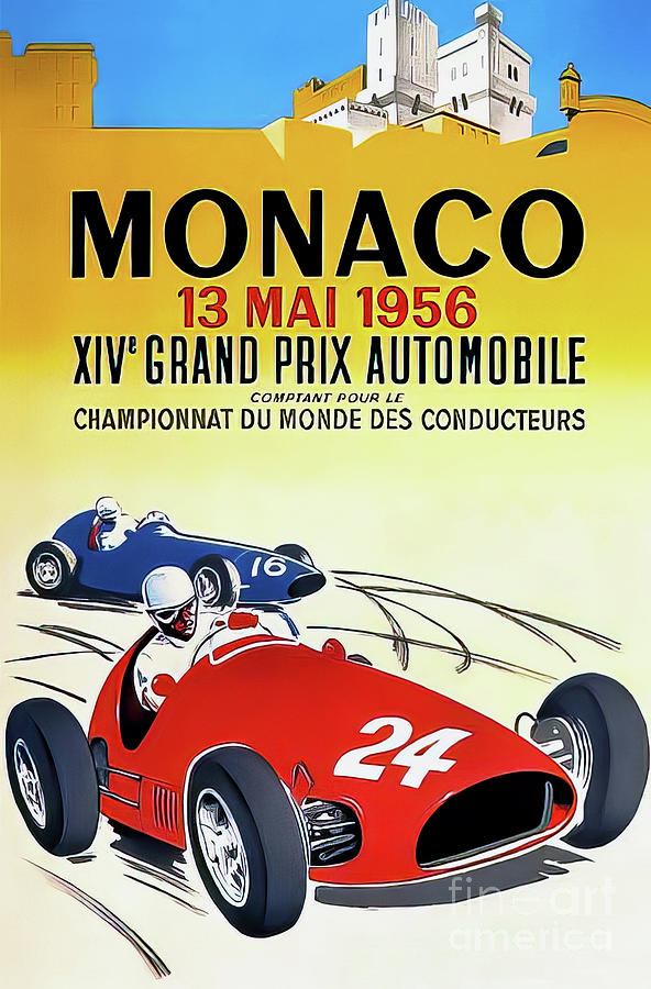Monaco 1956 Grand Prix Drawing